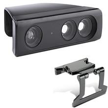 Zoom Gioca Gamma Riduzione Lens Largo Angl Adattatore Universale + Regolabile TV Della Clip del Morsetto Del Supporto Del Basamento Per Xbox 360 Kinect 360 sensore