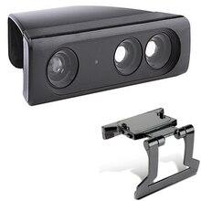 줌 플레이 범위 감소 렌즈 와이드 앵글 범용 어댑터 + 조정 가능한 tv 클립 클램프 마운트 스탠드 xbox 360 kinect 센서