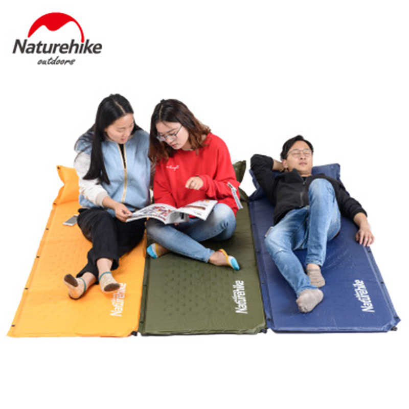 Colchón inflable automático rápido NatureHike almohadilla para dormir tienda de campaña al aire libre estera plegable empalme estera de Camping de Picnic