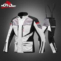 MOTOBOY Для мужчин мотоцикл Мотокросс гонки по бездорожью Куртка бронежилет езда брюки Костюмы water proof движимого теплый лайнер J08P08