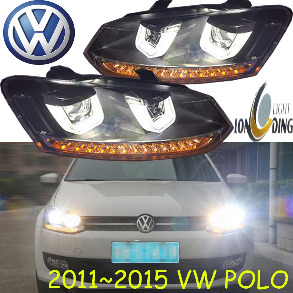 Polo headlight,2011~2015(Fit for LHD),Free ship!Polo fog light,Sharan,Touareg,vento,vanagon,transporter,routan mitsubish grandis headlight 2008 fit for lhd