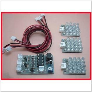 CD4017 + ne555 Strobe module electronicss
