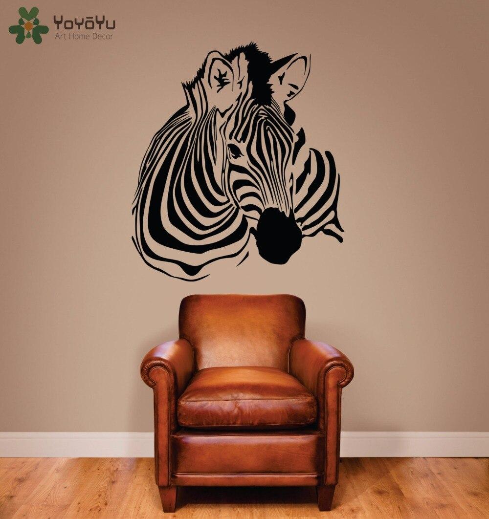 Animal Wall Decal Zebra Removable Art Mural Vinyl Stickers Stripe Home Decor Kids