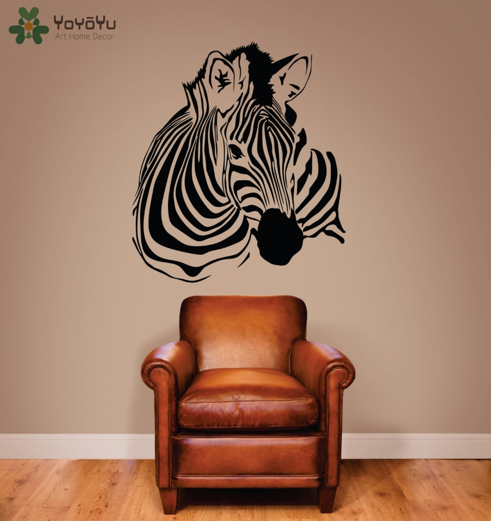 online get cheap stripe wall stickers aliexpress com alibaba group animal wall decal zebra removable art mural vinyl wall stickers zebra stripe home decor for kids