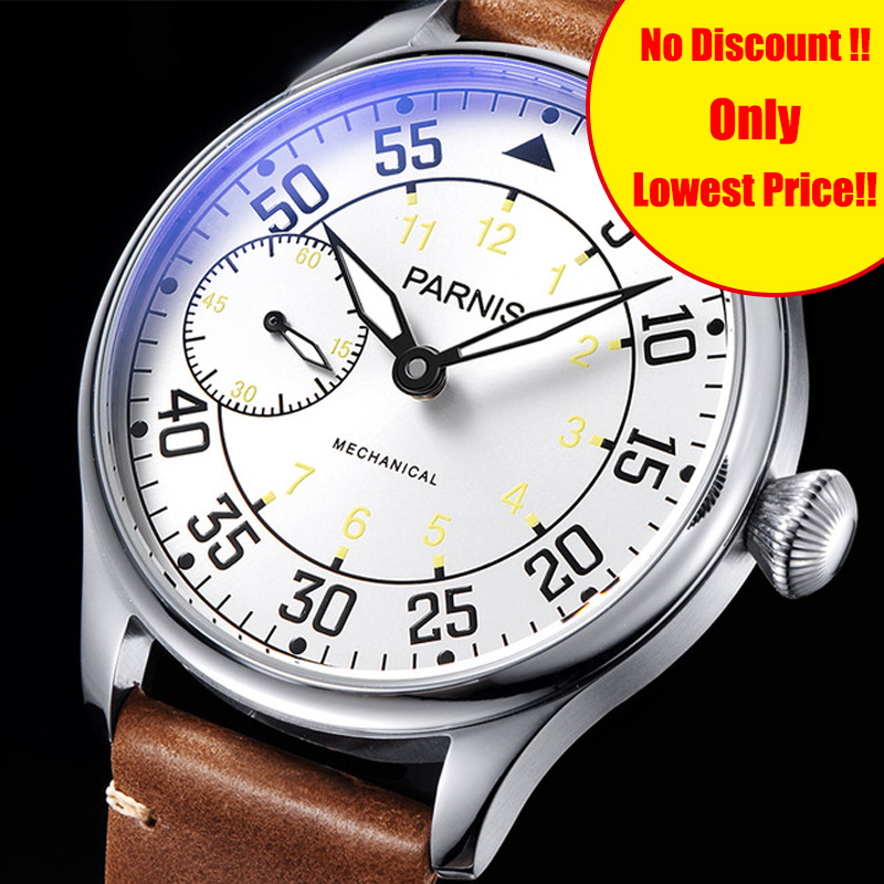 Casual Parnis 44mm Hand Winding Mechanical Men Watches Waterproof Leather Hand Wind Mens Watch Top Brand Luxury 2019 Clock ManCasual Parnis 44mm Hand Winding Mechanical Men Watches Waterproof Leather Hand Wind Mens Watch Top Brand Luxury 2019 Clock Man