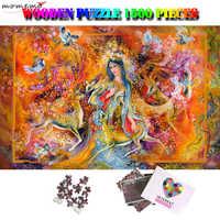 MOMEMO Göttin von Frühling 1500 Stück Holz Puzzle Schwierig Puzzle Spielzeug für Erwachsene Kinder Teens 1500 Stück Puzzles Geschenke