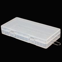 Soshine Portable Transparent Hard Plastic AA Battery Case Holder Storage Box with Hook Holder for 8 x AA Batteries Container