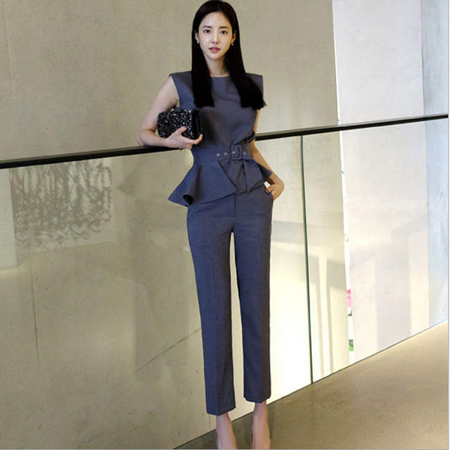 9c95006086c7 placeholder 2 piece set women pants and shirts 2019 Fashion knitting blouse  pants suits set ladies Sexy