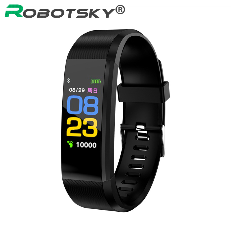 115plus men Smart Wristband Sports Date Calories Pedometer Sleep Monitor women Smart Bracelet Call Reminder for Android IOS