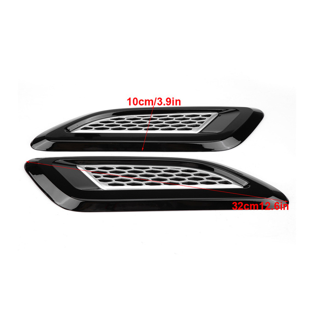 1 pair Exterior Hood Air Vent Outlet Wing Trim for Land Rover Range Rover Evoque 2012 2013 2014 2015 2016 2017 2018 Car Styling 3