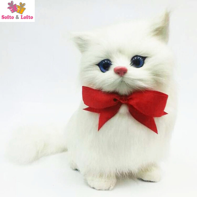 NEW One Piece Artificial Fur Made Plush Cats Toypersian Kat Kitten Pussy Cat