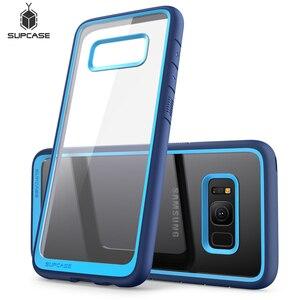 Image 1 - SUPCASE Samsung Galaxy S8 kılıfı UB stil Premium hibrid koruyucu İnce temizle kılıf TPU tampon + PC arka kapak için S8 kılıfı