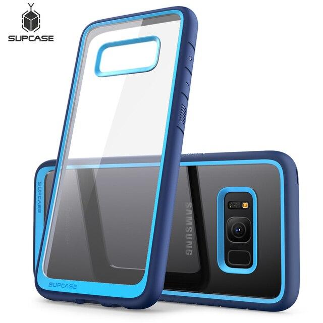 SUPCASE Samsung Galaxy S8 kılıfı UB stil Premium hibrid koruyucu İnce temizle kılıf TPU tampon + PC arka kapak için S8 kılıfı