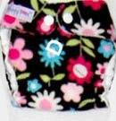 Моющиеся Новорожденные ткань пеленки 1 шт. ткань пеленки+ 1 шт. вставки - Цвет: flowers D