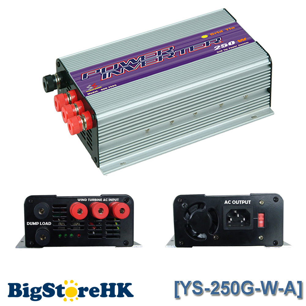 250W Pure Sine Wave Grid Tie Inverter for Wind Turbine AC To AC MPPT Function 10.8V-30V / 22V-60V Input 110V/220V Output 600w grid tie inverter lcd 110v pure sine wave dc to ac solar power inverter mppt 10 8v to 30v or 22v to 60v input high quality