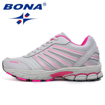 BONA New Basic Style Women Running Shoes Lace Up Sport Shoes Outdoor Jogging Walking Shoes Comfortable Sneakers Free Shipping