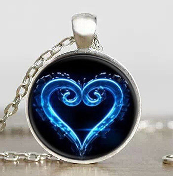 JP font b Anime b font Kingdom Hearts Emblem Symbol Mens Handmade Fashion Necklace brass silver