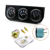 52mm Oil Pressure Triple Gauge Kit Oil Temp Water Temp Car Pointer Meter