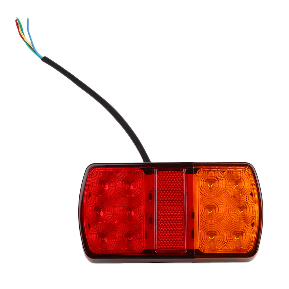 12V 12 LED Trailer Truck Stop Rear Tail Lights Indicator Caravan Lorry