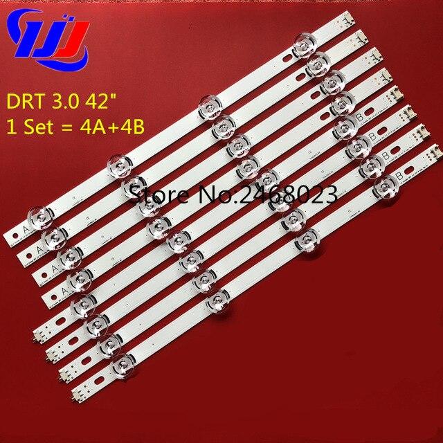 """825mm LED şerit 8 leds LG INNOTEK DRT 3.0 42 """"_ A/B tipi 42LB5610 42LB5510 42LY320C 42GB6310 TV LCD değiştirme 4 takım"""