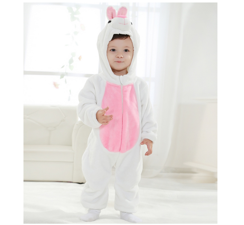 Rabbit romper infant toddler easter clothes baby boy girl animal rabbit costumes flannel baby autumn clothes photography props newborn infant baby romper cute rabbit new born jumpsuit clothing girl boy baby bear clothes toddler romper costumes