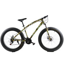 26 Inch 21 Speed Cross-country Beach Snow Bike 4.0 Super Wide Tires, Mountain Bike Camouflage Bike Male female Students Bicycle