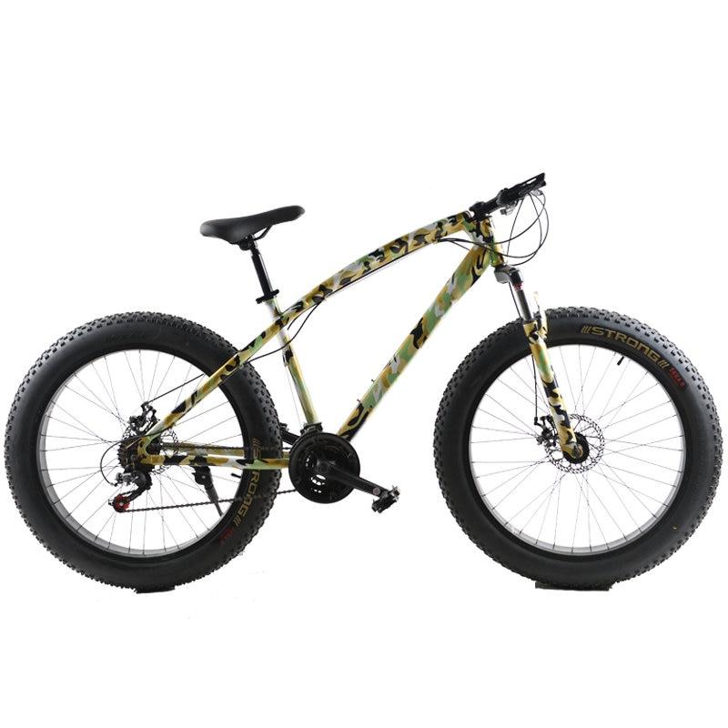 26 Inch 21 Speed Cross Country Beach Snow Bike 4 0 Super Wide Tires Mountain Bike