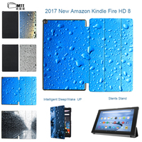 MTT Raindrop Painted Case For All New Amazon Fire HD 8 Tablet 7th Generation 2017 Version