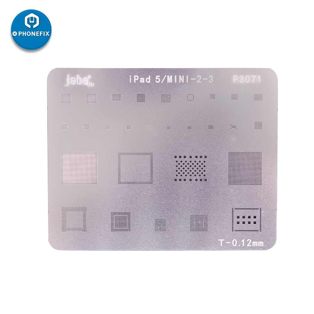 BGA Chip Reballing Stencil Template For IPad 2 3 4 5 6 Air Air2 Mini 1 2 3 4 Pro9.7 12.9 WIFI/ Touch Ic/ NAND Flash/ CPU Repair