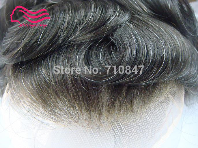 Alistingtaowigs Toupee men 8x10 french lace or Swiss lace , 100% indian remy hair replacement , men toupee free shipping