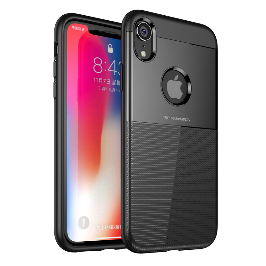 50pcs/lot Soft Anti fingerprint Protective Shield Shockproof Armor Case For iPhone X XR XS Max