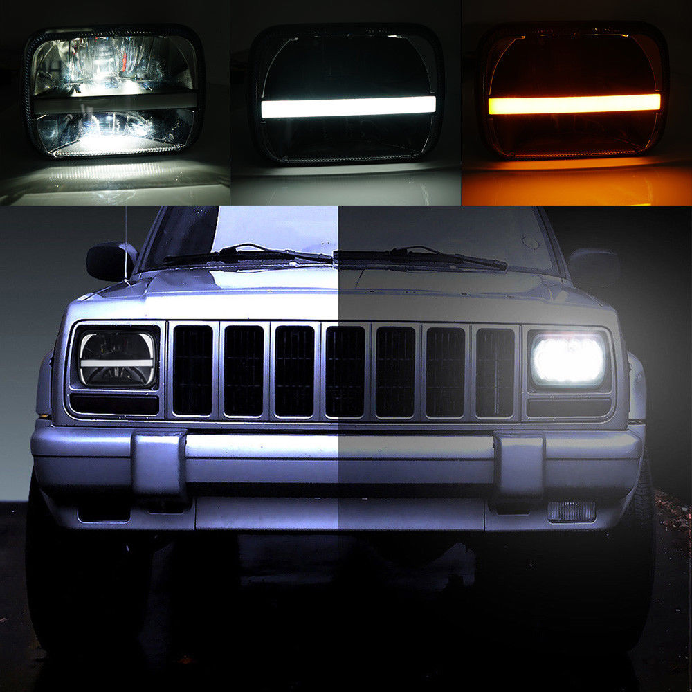 7x 6 5 x 7 inch Black Projector LED Headlights for Jeep Wrangler YJ Cherokee XJ H6054 H5054 H6054LL 69822 6052 6053 marlaa 7x 6 5 x 7 inch black projector led headlights for jeep wrangler yj cherokee xj h6054 h5054 h6054ll 69822 6052 6053
