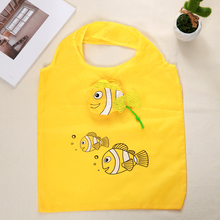 2019 Nylon Reusable Shopping Bags Foldable Eco Bag Tropical Fish Tote Bag Large Capacity Rose Storage Handbags Recycle Pouch tropical leaves tote bag