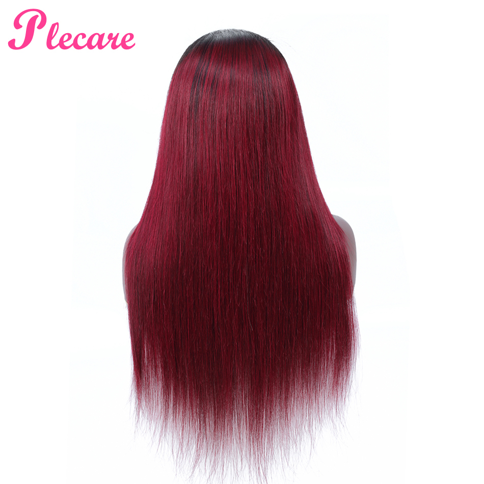 Plecare 4 4 Lace Front Human Hair Wigs For Black Women Ombre Lace Front Wig T1B