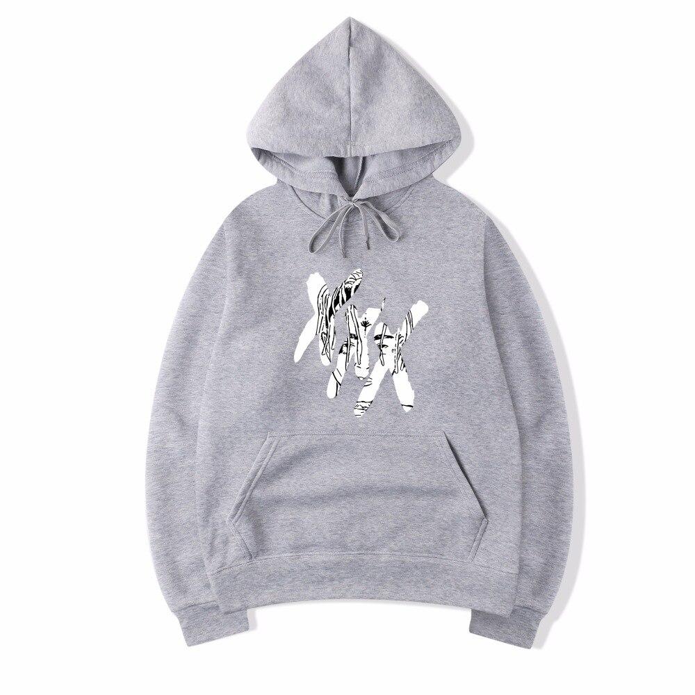 Just Vagrovsy Rip Xxxtentacion Fleece Coat Jacket Thicken Zipper Sweatshirt Hoodies Men Women Jahseh Dwayne Onfroy Revenge Tracksuit Men's Clothing