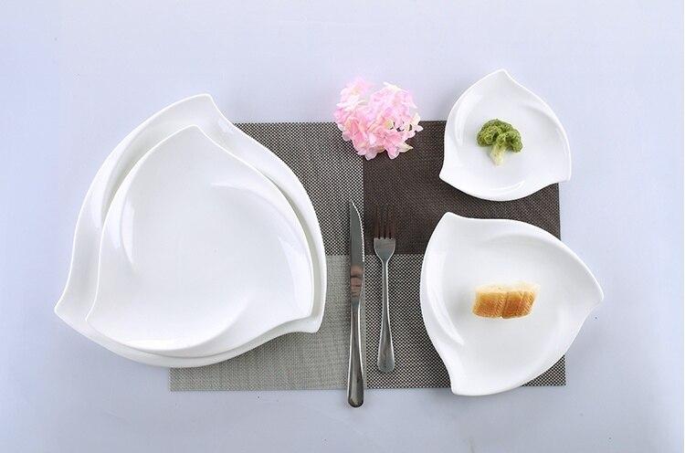 Vaisselle de table irrégulière en porcelaine | Service de table en céramique tourbillon, vaisselle décorative pour le Dessert, la salade, le riz et les nouilles - 6