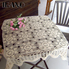 IBANO Cotton Mat Handmade Crocheted Lace Doilies Flower Shape Coasters Cup Mug Pads Home Coffee Shop Table Decoration Crafts