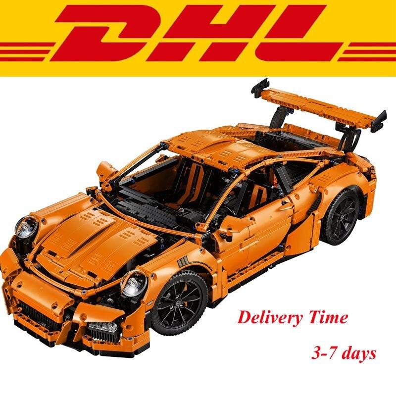 2016 New font b LEPIN b font 20001 2704Pcs Technic Series 911 GT3RS Race Car Model