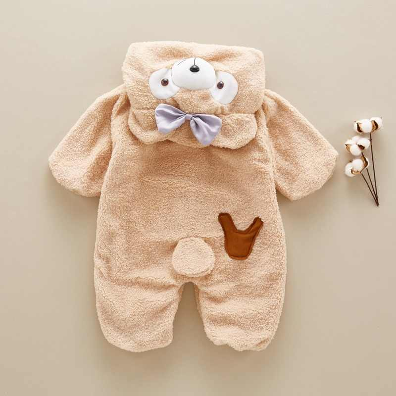 9979e0293b New Baby Romper Cute Cartoon Baby Winter Clothes Infant Girl Boy Jumpers  Kids Baby Outfits Clothes