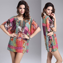 Fashion Print Women Dress Chiffon Casual Quality Summer Style Vestidos De Festa Brand Tropical Femininas Summer Dress