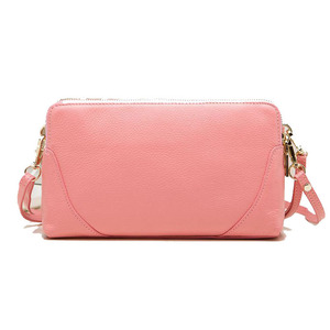 Image 2 - Moda donna borsa a tracolla borsa del cuoio genuino doppio disegno della chiusura lampo della pelle bovina tote di crossbody bag colori