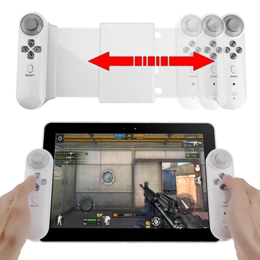 Mobile Phone Gamepad Wireless Bluetooth Tablet Game Controller Gamepad Joystick Stretch Bracket for 10in Android Tablet 2 4g wireless type c game controller joystick gamepad otg receiver for xiaomi android smart phone for ps3 game console 5 colors