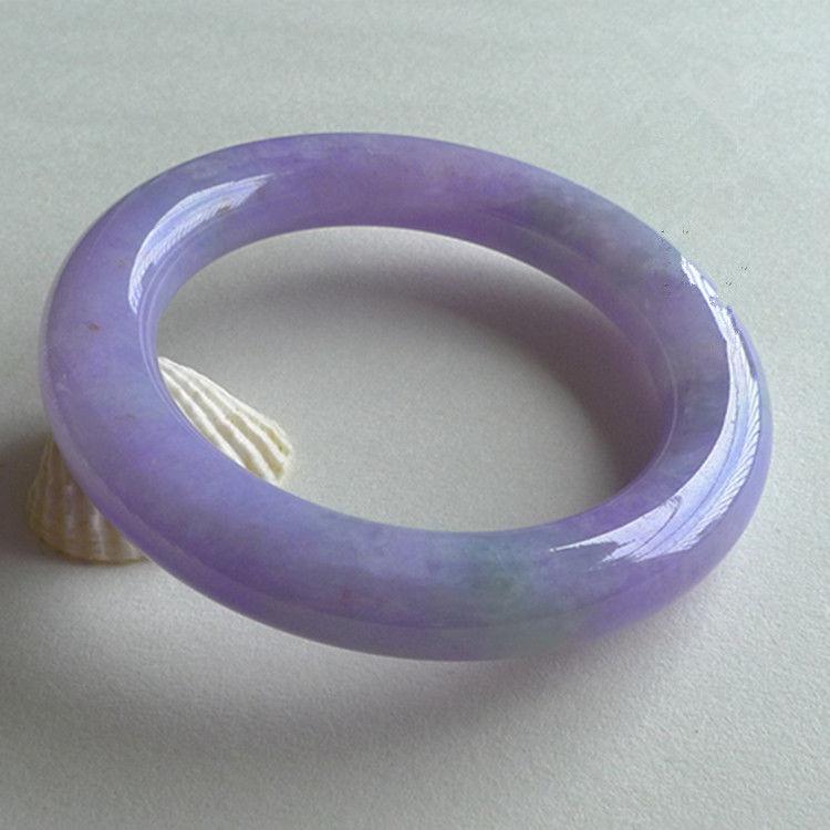 Violet bracelet, too Myanmar ite A goods Violet round bracelet/appraisal certificate gift box
