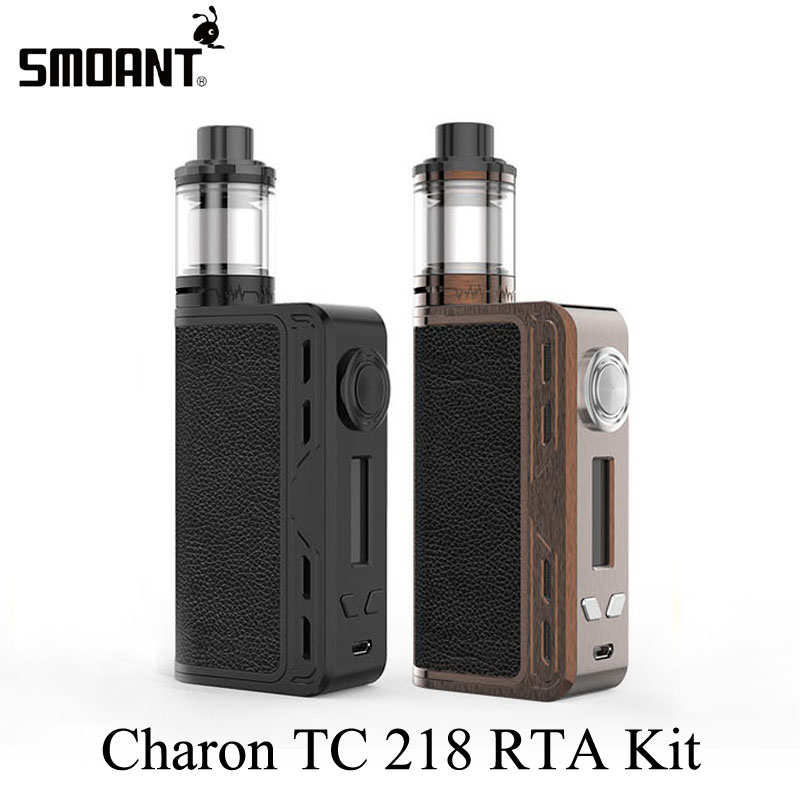 Electronic Cigarette Kits Vaporizer Vape Box Mod Kit E Cigarette Hookah Smoant Charon TC 218 RTA Kit With Battlestar RTA X2076 original electronic cigarette smoant charon ts 218 box mod 510 thread 18650 battery 218w vape mod electronic cigarette vaporzier