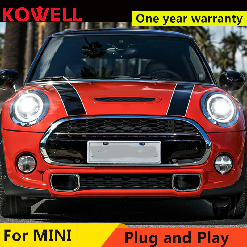 Car For 2013 2018 Mini F56 cooper headlights For F56 ALL LED head lamp Angel eye led DRL front light Bi led Lens dynamic turn-in Car Light Assembly from Automobiles & Motorcycles    3