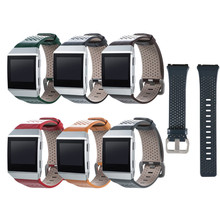 7 Color Replacement Fitbit Ionic accessory Bands Genuine Leather Wristband Strap Bracelet Watchband for Fitbit Ionic