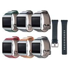 7 del reemplazo de Fitbit iónico bandas accesorios Cuero auténtico wristband correa de pulsera para Fitbit iónica desgaste reloj