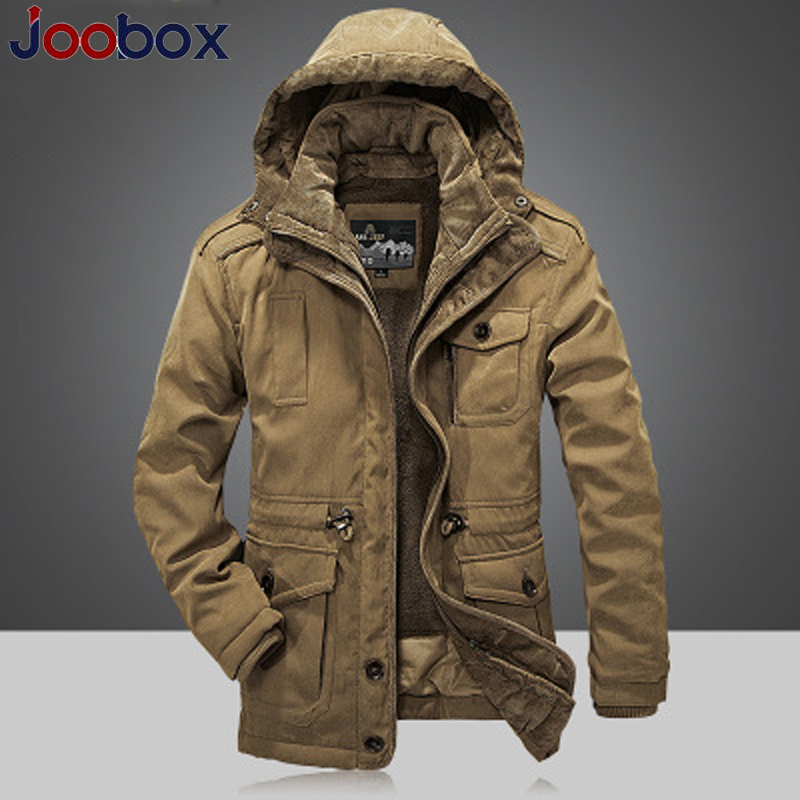 Winter Jacket Men Parkas Top Warm Waterproof Big Size 2018 Thicken Male Heavy Wool 2 in 1 Coat High Quality Fleece Cotton-Padded