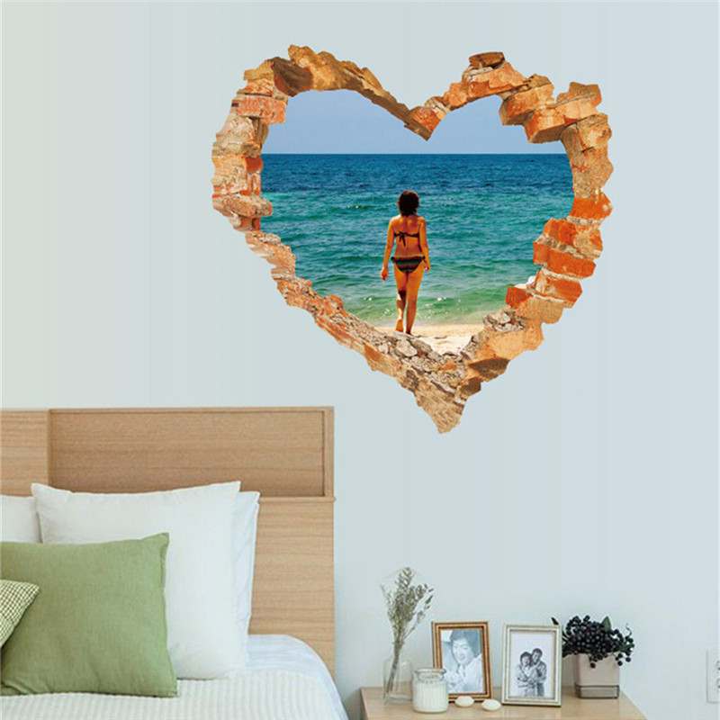 2018 New 3D DIY Happy Valentine Removable Wall Decal Family Home Sticker Home Decor High Quality Hot Sale