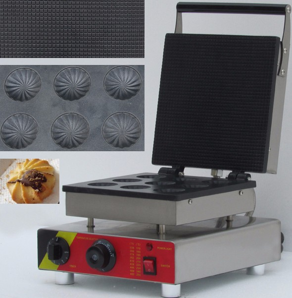 waffle Cake Machine with filling cookie maker waffle makers machine 1pc popular waffle cookie maker cool touch exterior cake making machine with grilling press plates for restaurant fy 2201